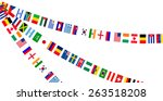 flags athletic meet background | Shutterstock .eps vector #263518208