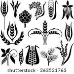 cereal set | Shutterstock .eps vector #263521763