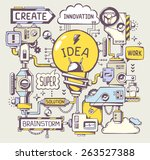 vector illustration of... | Shutterstock .eps vector #263527388