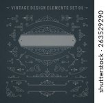vintage vector swirls ornaments ... | Shutterstock .eps vector #263529290