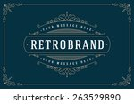 luxury logo template flourishes ... | Shutterstock .eps vector #263529890
