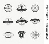 retro vintage insignias or... | Shutterstock .eps vector #263532269