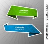 origami paper infographic... | Shutterstock .eps vector #263534330