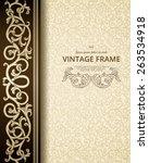 vintage background with golden...   Shutterstock .eps vector #263534918
