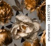 art vintage floral seamless... | Shutterstock . vector #263537738