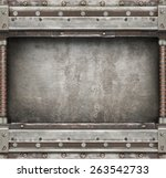industrial old metal background. | Shutterstock . vector #263542733