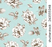 seamless pattern with pencil... | Shutterstock . vector #263555348