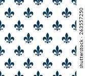 fleur de lys seamless pattern.... | Shutterstock .eps vector #263557250