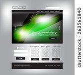 website design  | Shutterstock .eps vector #263561840