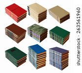 set of old books  vector
