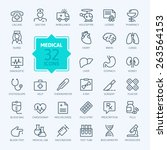 thin lines web icon set  ... | Shutterstock .eps vector #263564153