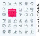 thin lines web icons set   e... | Shutterstock .eps vector #263564654
