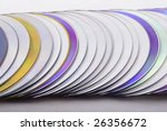 close up of dvd disks stack | Shutterstock . vector #26356672