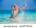 photo of happy man makes a... | Shutterstock . vector #263572514