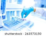 scientist using protective... | Shutterstock . vector #263573150
