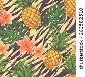 hand drawn seamless pattern...   Shutterstock .eps vector #263582510