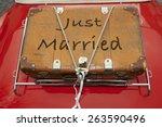 Just Married Written On A...