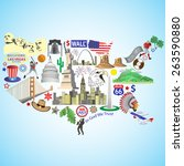 Usa Map. American Map With...