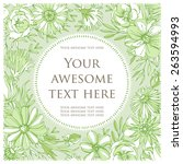 colorful postcard. green... | Shutterstock .eps vector #263594993