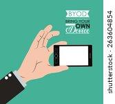 byod design over green... | Shutterstock .eps vector #263604854