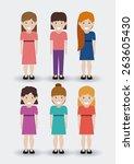 kids design over white... | Shutterstock .eps vector #263605430