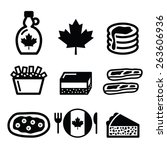 canadian food icons   maple... | Shutterstock .eps vector #263606936