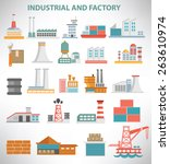industrial icon set design... | Shutterstock .eps vector #263610974