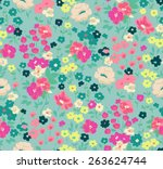 seamless cute flower vector...