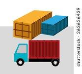 delivery design over white... | Shutterstock .eps vector #263626439
