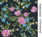 gentle floral seamless pattern  ... | Shutterstock .eps vector #263628806