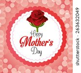 happy mothers day card design ... | Shutterstock .eps vector #263632049