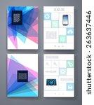 templates. vector flyer ... | Shutterstock .eps vector #263637446
