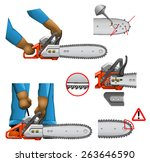 chain saw safety   Shutterstock .eps vector #263646590