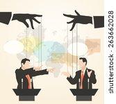 vector illustration of hands... | Shutterstock .eps vector #263662028