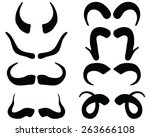 black silhouettes of horns