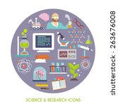 science and research concept... | Shutterstock .eps vector #263676008