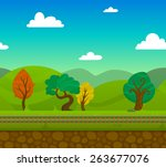 railway game 2d landscape with...   Shutterstock .eps vector #263677076