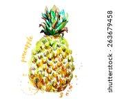 pineapple | Shutterstock .eps vector #263679458