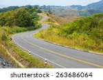 country road winding   Shutterstock . vector #263686064