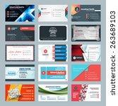 vector set of modern creative... | Shutterstock .eps vector #263689103