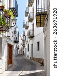 picturesque street in valencia... | Shutterstock . vector #263691920