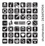 set of packaging symbols in... | Shutterstock .eps vector #263692904