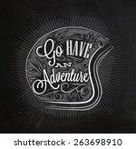 tourist poster lettering go... | Shutterstock .eps vector #263698910