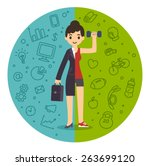 illustration of the concept of... | Shutterstock .eps vector #263699120