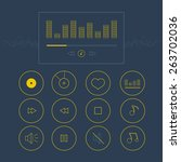 musical  outline icons for...