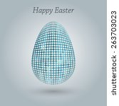 happy easter greeting banner. | Shutterstock . vector #263703023