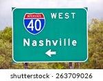 nashville tennessee road sign | Shutterstock . vector #263709026