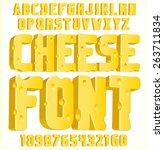 cheese font 3d | Shutterstock .eps vector #263711834