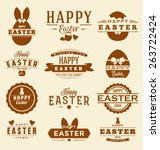 happy easter design collection  ... | Shutterstock .eps vector #263722424
