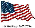 flag of usa | Shutterstock .eps vector #263723744